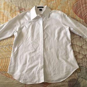 Pink Tartan White Button Down Shirt size 12